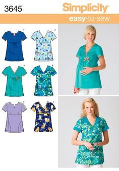 Sewing patterns for maternity scrub tops