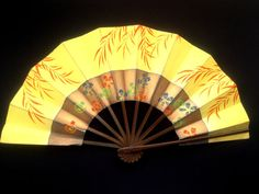 Flower Japanese Fan Cherry Blossoms Vintage by VintageFromJapan, $18.00