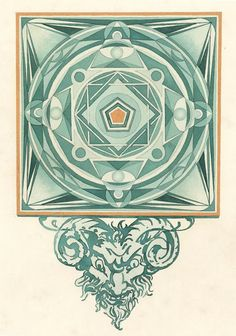 """Elaborate Watercoloring by Fredrik Söderberg"" #geometric #watercolor"