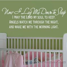 Part of my all-time favorite prayer! This might be the one for the baby room. <3