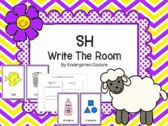 Are you looking for a way to reinforce the sh digraph at center time?  This write the room may be your answer.  There are a total of 12 pictures.  8 pictures begin with sh and 4 pictures end with sh.  A recording sheet is provided that reflects this.  There is also a page for sentence writing and illustrating a word from this write the room.
