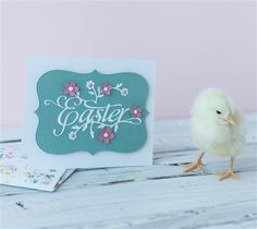 Easter Card. Make It Now with the Cricut Explore machine in Cricut Design Space.
