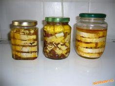 Nakládaný Hermelín Pickles, Cucumber, Mason Jars, Food, Essen, Mason Jar, Meals, Pickle, Yemek