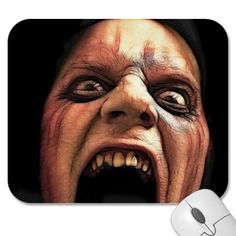 Run! Scary, dark, macabre, horror mousepad $10.95 Volume discounts available