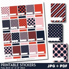 FREE Coral and mint full box stickers with flags – JS Digital Paper Printable Planner Pages, Free Planner, Printable Planner Stickers, Happy Planner, Free Printables, 2015 Planner, Planner Tips, Printable Labels, Filofax