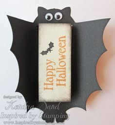 Inspired by Stamping, Kendra Sand, Halloween Labels stamp set, Bat Treat Holders, candy holders, Halloween projects