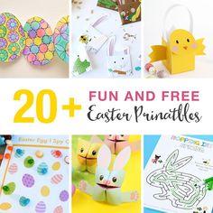 Fun Easter Printables for kids