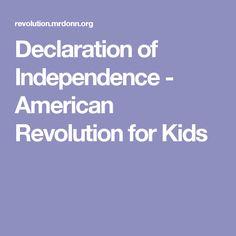 Declaration of Independence - American Revolution for Kids