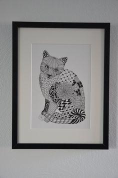 Fineliner - Tier Portrait / individuelle Wunschportrait - ein Designerstück von CoFoNo bei DaWanda