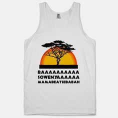 If I could stop laughing I'd probably buy this... // Lion King (Tank) | HUMAN