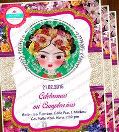 Invitaciones Imprimibles Frida Kahlo disponible para su descarga digital Inmediata! Descarga el diseño, edita los datos de tu evento en Power Point e Imprime todas las invitaciones que necesites en la comodidad de tu hogar, taller u oficina en cualquier impresora hogareña o centro de impresion mas cercano.