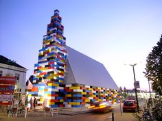 Abondantus Gigantus  A church built from giant LEGO blocks in city of Enxchede, Netherlands
