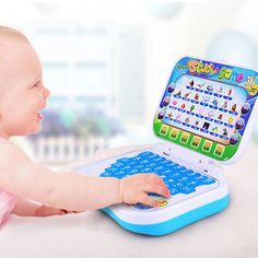 Baby Kids Pre School Educational Learning Study Toy Laptop Computer Game Educational Toy Send in Random Interactive Learning, Learning The Alphabet, Baby Learning, Learning Toys, Learning Music, Toddler Gifts, Gifts For Kids, Toddler Fun, Toys For Girls