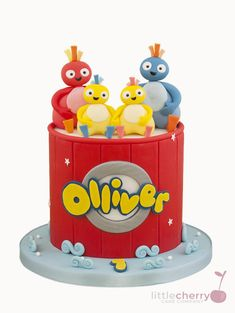 Little Cherry Cake Company - Twirlywoos Cake Twirlywoos Cake, Cake Boos, Boat Cake, Royal Cakes, 2 Birthday Cake, Birthday Ideas, Spring Cake, Cherry Cake, Different Cakes