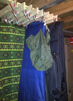 1000 images about organizing camping gear on pinterest Ideas for hanging backpacks