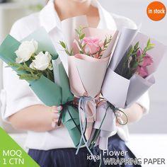 60*60CM Flower Mini bouquet wrapper Korean style 2 colors two sides paper
