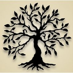 Olive Tree Wall Hanging by Black Cat Artworks Kirigami, Silhouettes, Stencils, Tree Stencil, Tree Silhouette, Scroll Saw Patterns, Olive Tree, Flowering Trees, Silhouette Projects
