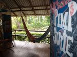 rocking j's hostels and cabinas COSTA RICA  hostel in Puerto Viejo. Completely covered in guest made art and mosaics, good vibes seep from the floor boards and continue to attract the most interesting people. Rocking J's gives you the opportunity to meet people from all corners of the globe!   hammocks, tents, dorms, partys, crab racing, restaurant, wifi, SUPER COOL