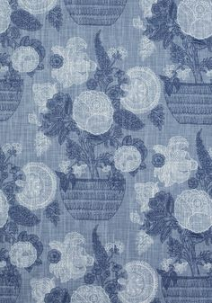 TULLAMORE, Blue, F972592, Collection Chestnut Hill from Thibaut