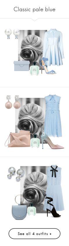 """Classic pale blue"" by sofiacalo ❤ liked on Polyvore featuring STELLA McCARTNEY, Alexandre Birman, Roksanda, N°21, Prada, Jankuo, Gucci, Ted Baker, Diane Von Furstenberg and Mark Cross"