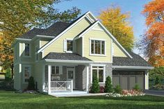 Country Exterior - Front Elevation Plan #46-801 - Houseplans.com