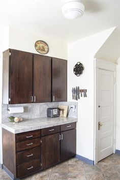 Inspirational Kitchen Floating Live Edge Shelves