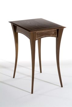 Side table handmade in Walnut with fine Maple inlay.