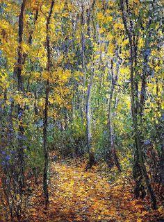 Wood Lane, 1876 / Claude Monet♥ Inspirations, Idées & Suggestions, JesuisauJardin.fr, Atelier de paysage Paris, Stéphane Vimond Créateur de jardins en ville #art #Painting #landscape #Peinture #peintre #paysage #paysagiste ♥