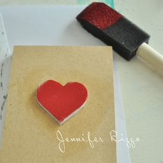 how to make an easy heart stamp