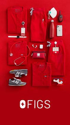 Red Scrubs, Cute Scrubs, Stylish Scrubs, Logo Azul, Scrubs Uniform, Medical Uniforms, Nursing Clothes, Medical Scrubs, Dress To Impress