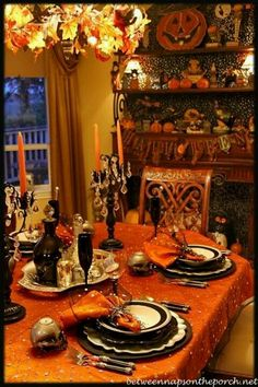 table setting - Halloween Place Settings