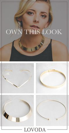 Gold Choker Necklaces from Lovoda