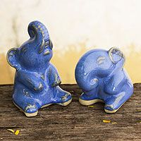 Happy Dark Blue Elephants from @NOVICA, They help #artisans succeed worldwide.