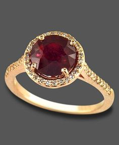 Ruby Gemstones Love this ruby ring. Prefer white gold over yellow Rosa by EFFY Ruby ct.) and Diamond ct.) in Rose Gold Emmaa Gold Rings Jewelry, Ruby Jewelry, Antique Jewelry, Gemstone Rings, Diamond Necklaces, Jewlery, Jewelry Watches, Bling Bling, Beautiful Rings