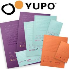 Yupo Watercolor Pads & Sheet Papers - Multimedia Paper to Explore the versatility of synthetic paper with Yupo, the world's first erasable watercolor paper! YUPO Synthetic Paper is recyclable, in medium, translucent & heavy paper sheets & pads