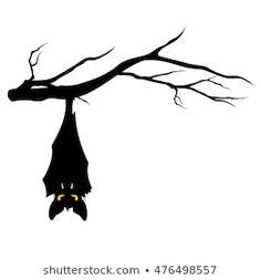 halloween theme evil bat hanging on a tree branch - funny monster vector design Castle Illustration, Night Illustration, Halloween Illustration, Halloween Cartoons, Halloween Drawings, Halloween Themes, Halloween Images, Halloween Projects, Halloween Diy