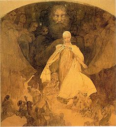 Age of Wisdom Artist: Alphonse Mucha Start Date: 1936 Completion Date:1938 Material: paper Dimensions: 55 x 32 cm