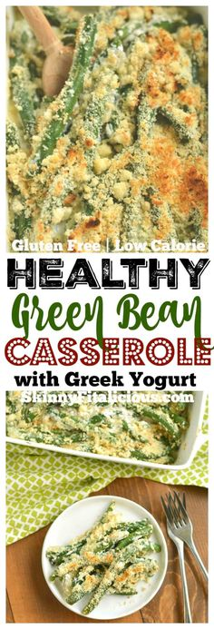 A Healthy Green Bean Casserole made from scratch, without processed ingredients in under 30 minutes! A creamy & flavorful side perfect for the holidays & beyond. Gluten Free + Low Calorie with a dairy free option! (vegetable sides for chicken) Homemade Green Bean Casserole, Healthy Green Bean Casserole, Healthy Thanksgiving Recipes, Healthy Recipes, Healthy Foods, Diet Recipes, Clean Eating Recipes, Healthy Eating, Low Calorie Vegetables