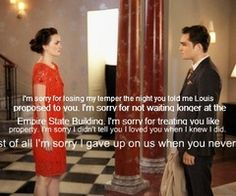 My favorite Gossip Girl quote. Oh how I love Chuck Bass