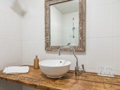 Bathroom hosting an old barn door 📷 Joni Himanen Old Barn Doors, Villa, Vanity, Rooms, Bathroom, Dressing Tables, Bedrooms, Washroom, Powder Room