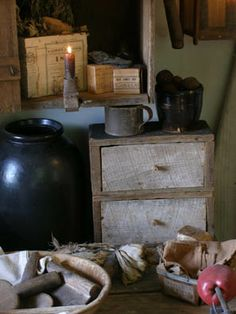 Primitive country decor items at Sweet Liberty Homestead