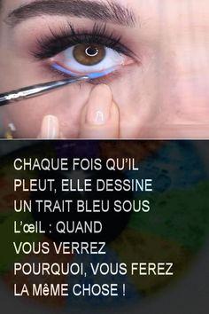 Chaque fois qu'il pleut, elle dessine un trait bleu sous l'œil : Quand vous verrez pourquoi, vous ferez la même chose ! #Ble #Oeil #Chose #Ferez #Verre Islam, Anna, Dessert, Crochet, Make Hair Grow, Under Eyes, Deserts, Postres, Ganchillo