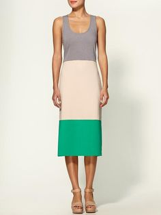 Colorblock Tank Dress  by Lucca Couture