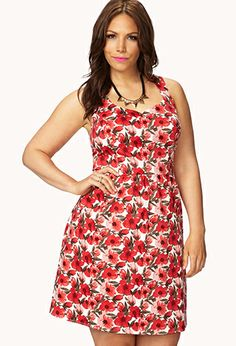 Cheery Floral Dress | FOREVER21 PLUS - 2059453983