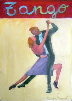 """Figura de tango 4"", acrylic on canvas, 19 x 27 cm. year 2010"