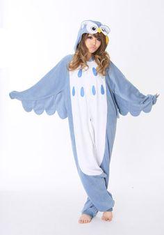 Kigurumi Shop | Owl Kigurumi - Animal Costumes & Pajamas by Sazac    I'm gonna buy this and wear it all the time.