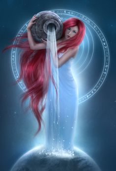 Aquarius-#myth #fantasy #blue/red