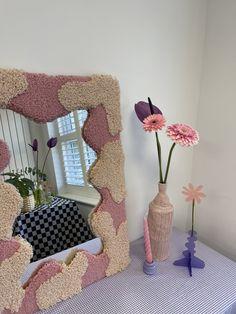 Room Ideas Bedroom, Bedroom Decor, Funky Mirrors, Funky Rugs, Pastel Room, Uni Room, Aesthetic Room Decor, Dream Rooms, My New Room