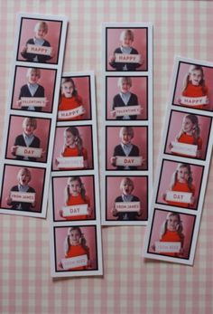 adorable valentine's day photo booth cards. could be used for christmas or a birthday party too!