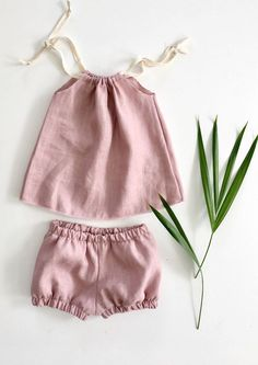 Handmade Linen Baby Toddler Outfit | SunnyAfternoon on Etsy